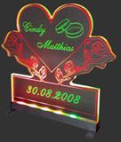 LED wedding decoration Rose - Heart with preferred name
